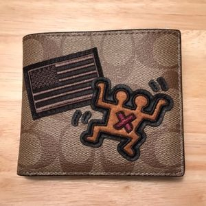 COACH Keith Haring Double Billfold Wallet